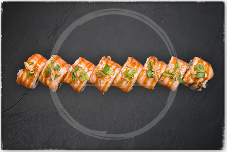 Foto Flamed Salmon Roll
